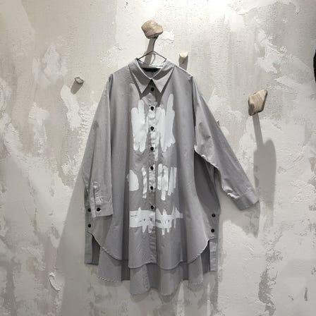 MOYURU  2021 Spring Collection  Shirt    ¥23000  White / Gray