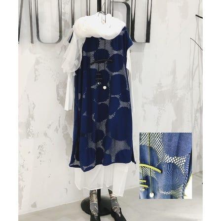 MOYURU<br /> <br /> 2021 Spring & Summer  Collection<br /> <br /> Dot & Mesh cotton Dress ¥43000