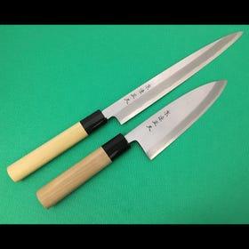 本霞/安来钢白纸2号钢/柳刃厨刀24cm、出刃厨刀15cm/组合