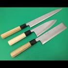 A set of 3 knives Damascus Blue No.1 steel -Sashimi knife 24cm, Deba knife 15cm and Usuba knife 18cm-