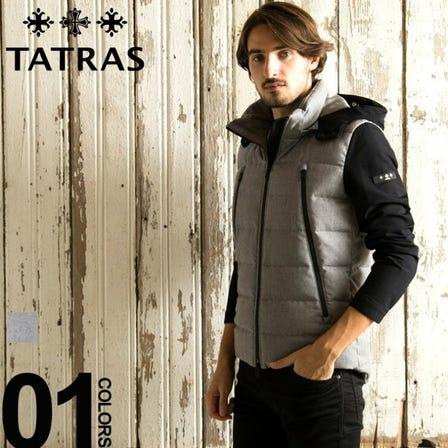タトラス TATRAS ダウンジャケット フルジップ ダウンブルゾン SPIAZZO スピアッツォ ブランド メンズ アウター ウール パーカー フード TRMTK19A4134