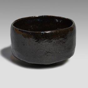 Kuro Chawan (made by Ohi Chozaemon IX) *Kuro Chawan: black tea bowl