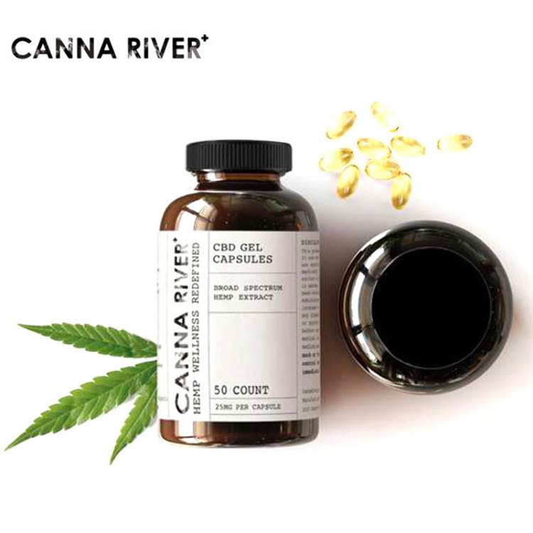 Canna River CBD GEL CAPSULES (50  Counts)