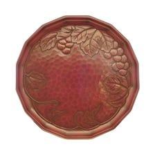 Kamakura-bori 27 cm round serving tray with grapevine design