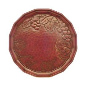 鎌倉彫 9寸輪花盆 ぶどう