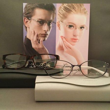 LineArt CHARMANT  获得高度评价的日本制镜框。β钛合金材质轻巧舒适。