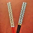 Shippo Patterned Chopsticks, Husband and Wife Set (Kiyomizu-ware)