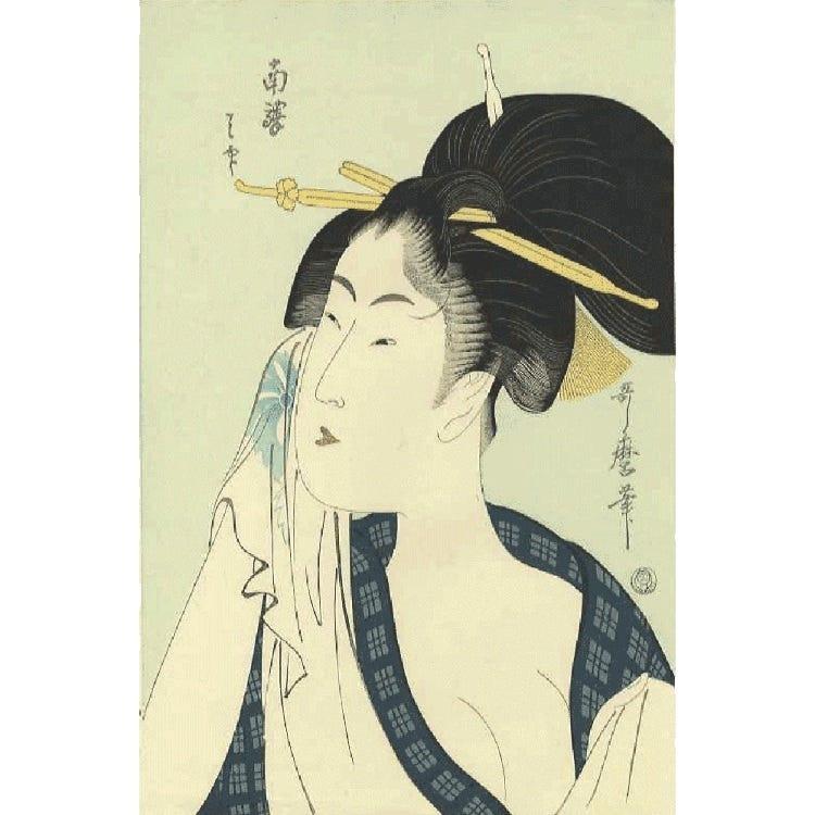 ukiyo-e:Utamaro reproduction