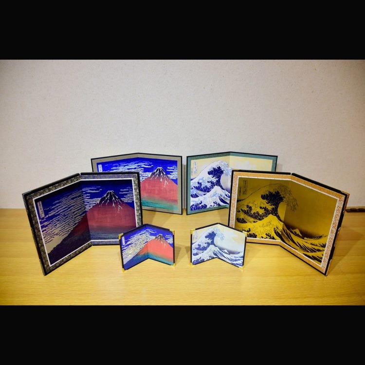 Hokusai Byoubu Sumida Ward's own famed ukio-e painter Katsushika Hokusai's works turned into folding screens