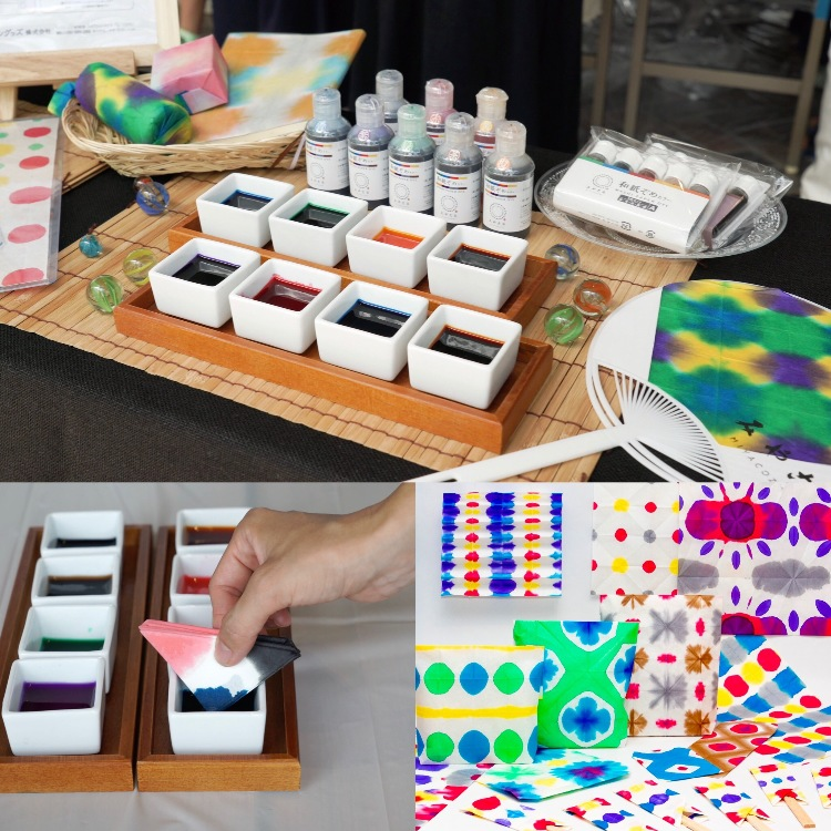 Dyes for Japanese washi paper - five color set<br /> https://youtu.be/KuhEVxPWC4g<br /> ・Dye designated for washi paper <br /> ・Liquid dye you can use as it is<br /> ・Safe and secured conforming to latest European standard <br />    EL71-3 2013