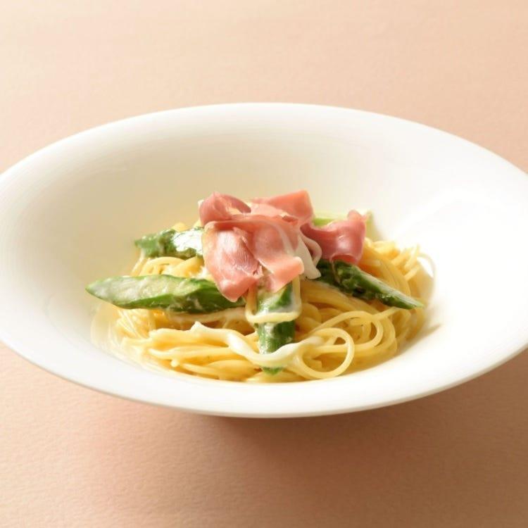 cream sauce pasta with prosciutto and broccoli