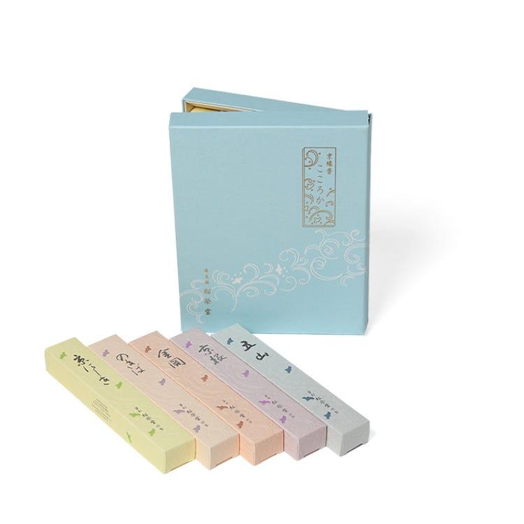 京線香 こころか 5種<br /> 白檀を基調とした香りのセットです。