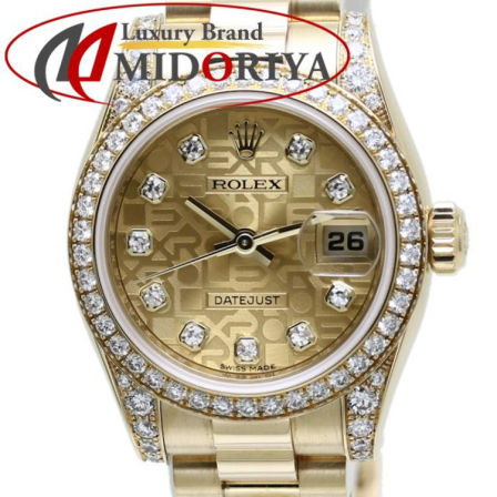 ROLEX Datejust 179159G 18K Yellow Gold Diamond Women's Watch /37307