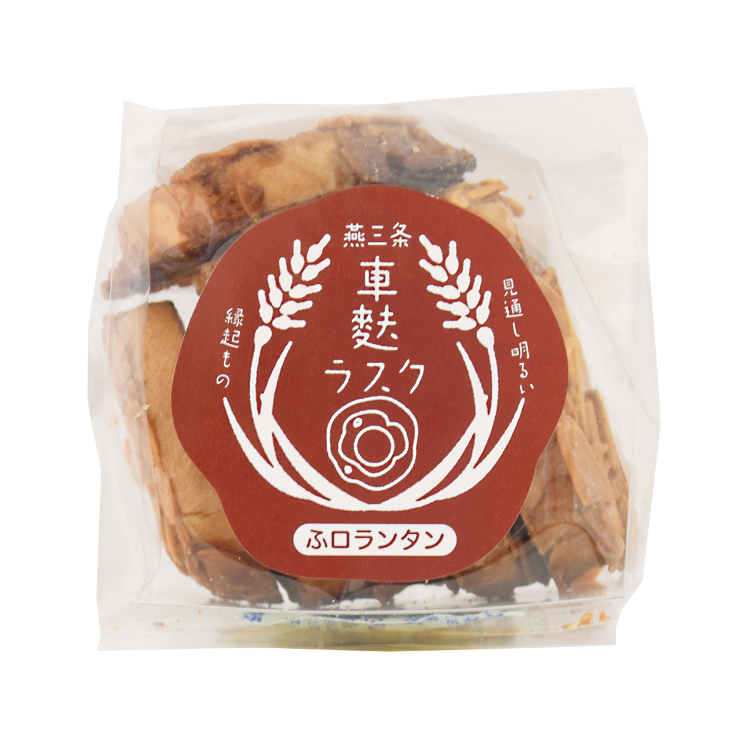 "FU-lorentine biscuit rusks: Florentine biscuits made from wheat gluten, or ""fu"" in Japanese. Made in the style of kuruma-fu wheat gluten wheels."
