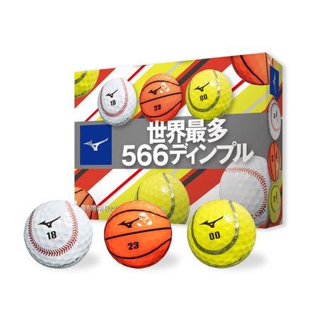 NEXDRIVE SPORTS BALL / GOLF BALL( 12P ) 人気のNEXDRIVEボールに、スポーツボール柄のデザインが登場!  #mizuno #golf #nexdrive #golf_ball #basketball #baseball #tennis