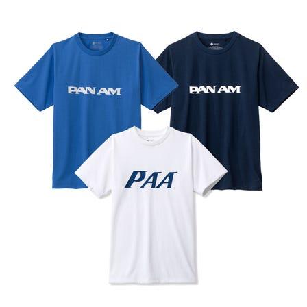 """PAN AMトラベルTシャツ 世界の空を飛び回る旅客機として人気を博した""""パンナム""""の定ロゴのTシャツ。  #mizuno #pan_am #tshirts #unisex #go_to_by_mizuno #52_by_mizuno"""