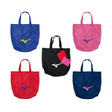 ポケッタブルトートバッグ さっと折りたためてコンパクトになるエコバッグ。  #mizuno #pocketable #tote_bag #eco_bag
