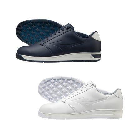 "WIDE STYLE SPIKELESS / GOLF SHOES 休閒設計看起來像運動鞋。 寬"" 4 + 1E""型號。  #mizuno #mizuno_golf #golf #widez_style #spikeless #for_men"