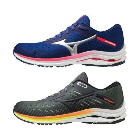 "WAVE RIDER 24 / ランニングシューズ ""スムーズ""な走り、どこまでも。 MIZUNO ENERZYとMIZUNO WAVE搭載。 なめらかで強い走りが続く。  #mizuno #wave_rider #runnning #runnning_shoes #for_men"