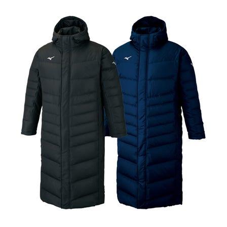 LONG DOWN COAT 长款具有拒水功能的羽绒大衣。  #mizuno #down_coat #long #unisex