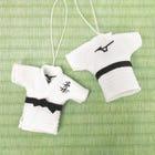 柔道衣キーホルダー 柔道衣をイメージしたキーホルダー  #mizuno #judo #key_chain #souvenir