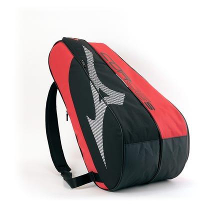 ラケットバッグ A4サイズが入るポケットやシューズポケットも配置。 6本入れ用ラケットバッグ。  #mizuno #tennis #racket_bag
