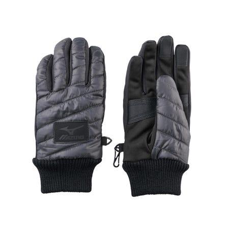 ブレスサーモ中綿手袋 中綿の入ったあたたかい手袋。タッチパネル対応。  #mizuno #BREATH_THERMO #gloves #unisex