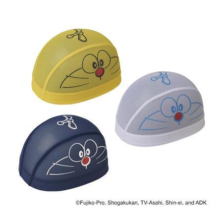 SWIM CAP A mesh cap with Doraemon's face as a motif. ©Fujiko-Pro, Shogakukan, TV-Asahi, Shin-ei, and ADK  #mizuno #doraemon #swim #swim_cap #unisex