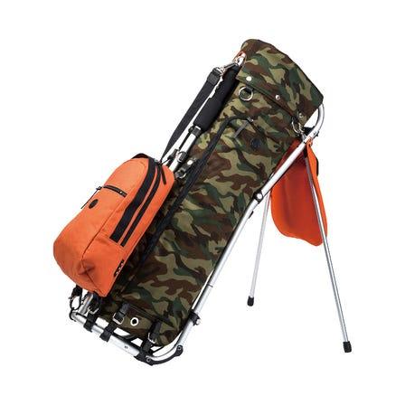 キャディバッグ カモフラージュ柄にカラー帆布がかっこいいキャディバッグ。  #mizuno #mizuno_golf #caddie_bag