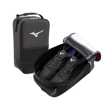 SHOES CASE A multi-purpose shoe case that can also be used as an accessory case. With mesh pocket and zipper pocket.  #mizuno #shoes_case #bag