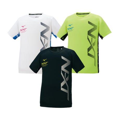 N-XT T-SHIRT 帶有N-XT徽標的吸汗速乾T卹。  #mizuno #N-XT #tshirt #unisex