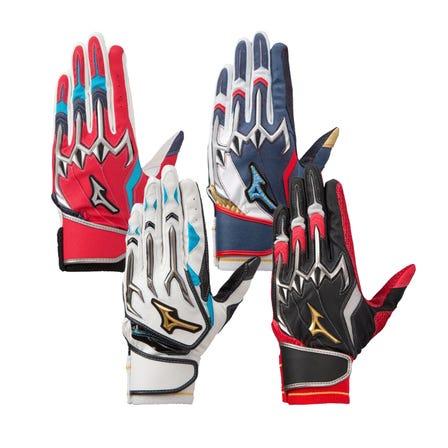 【Mizuno Pro】SILICON POWER ARC W / BATTING GLOVES 兩隻手的擊球手套。  #mizuno #mizuno_baseball #baseball #batting_gloves #mizuno_pro #silicon_power_arc