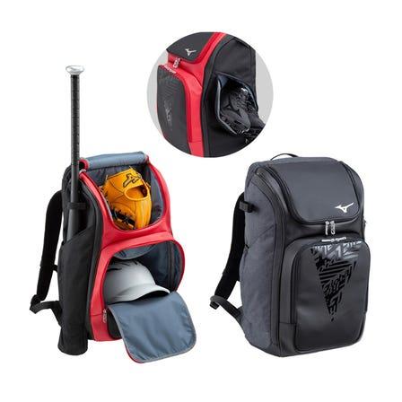 【Global Elite】BACKPACK 야구 헬멧, 박쥐, 신발, 장갑을 한 번에 수납 할 수있는 가방.  #mizuno #mizuno_baseball #global_elite #backpack