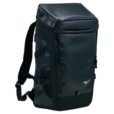 SSBACKPACK / 30 liters 帶有裂開帶子的防水帆布背包,感覺很輕,因為它分散了負載。  #mizuno #backpack #bag #team_bag