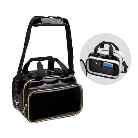 ENAMELE BAG / 30 liters A mini-sized enamel bag with an internal accessory pocket.  #mizuno #backpack #bag #team_bag #patent_bag #enamel_bag