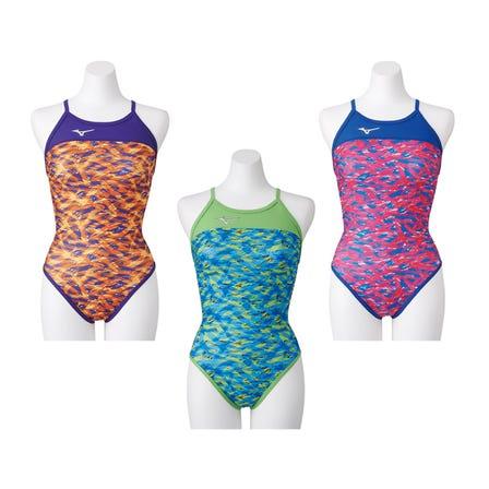 競泳練習用水着 湧き上がる情熱の放出をイメージした柄の競泳用水着。  #mizuno #swimsuit #for_women #Rikako_Ikee_Collection