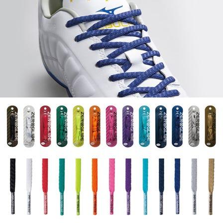 ZEROGLIDE SHOELACE 4mm wide grip lace (13 colors in total) Length: 100mm / 110mm / 120mm / 130mm / 140mm  #mizuno #mizunotokyo #zeroglide #shoelace