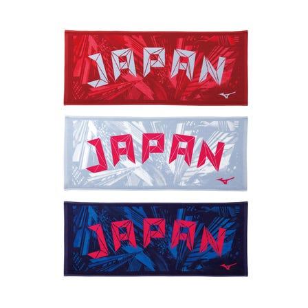 JAPAN TOWEL 具有日本徽標的今治洗臉毛巾。 (日本製造)  #mizuno #mizunotokyo #towel #Japan #imabari #imabari_towel #made_in_japan #souvenir