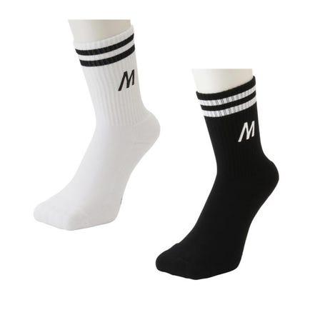 LOGO SOCKS Simple and easy to match, M logo socks.  #mizuno #socks #logo_collection