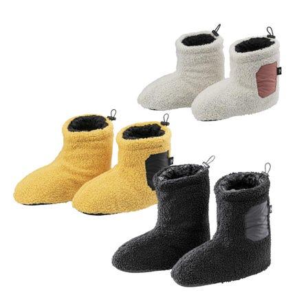 ボアブーツシューズ / ROOM SHOES 足底の内側がボア素材。素足でも、靴下を履いてもあったかいルームシューズ。  #mizuno #room_shoes #boa #for_women