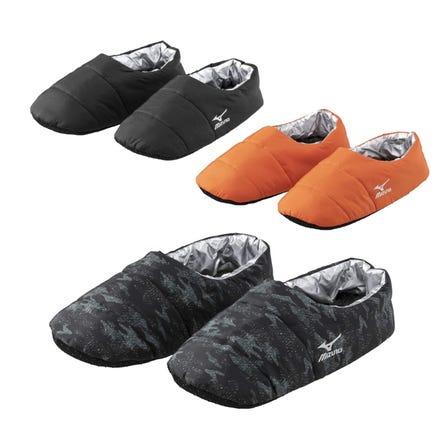 ROOM SHOES 발바닥의 안쪽이 부아 소재. 맨발도 양말을 신어도 따뜻한 룸 슈즈.  #mizuno #room_shoes #boa #for_men