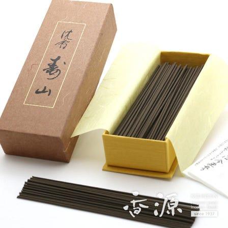 인기 제품인 침향나무 향입니다. 니혼코도(日本香堂) / '수산(寿山)(낱개 포장, 약 180개입)