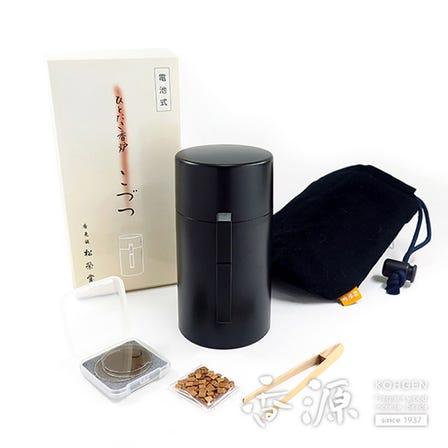 Practical end elegant, ready to use everywhere Shoyeido, Kodutu - Battery Operated Portable Wood Chip Heater - Black