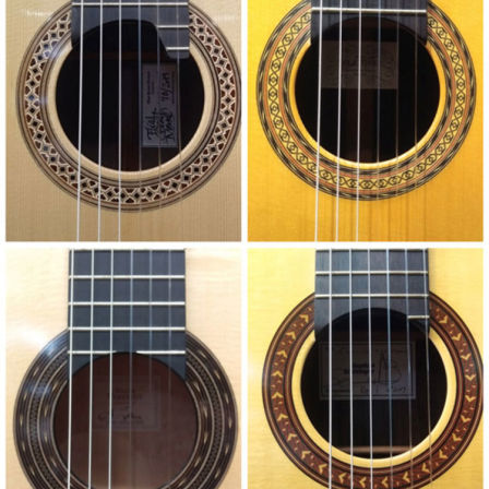 【Handmade Classical Guitars from Abroad】<br /> The very clear difference between domestic guitars and guitars from overseas are the sound quality and  designs of the sound-hole mosaic.