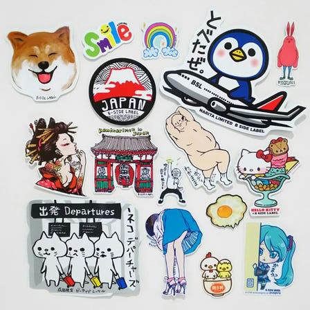 【個性貼紙】<br /> 成田機場限定設計款及各種豐富造型圖案的金屬徽章、T恤!
