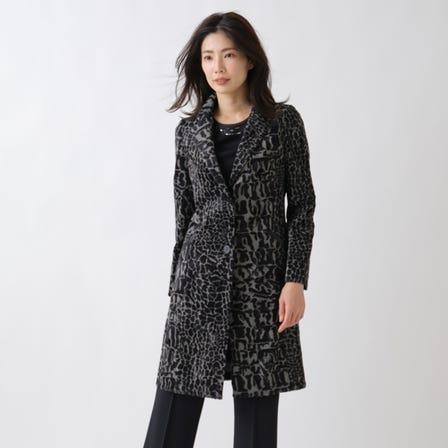 윤기 기모 프린트 코트