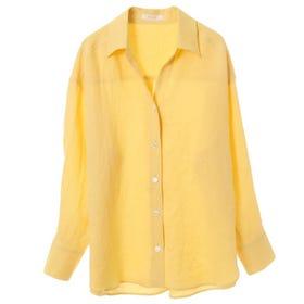 [Hand washable] French linen skipper shirt