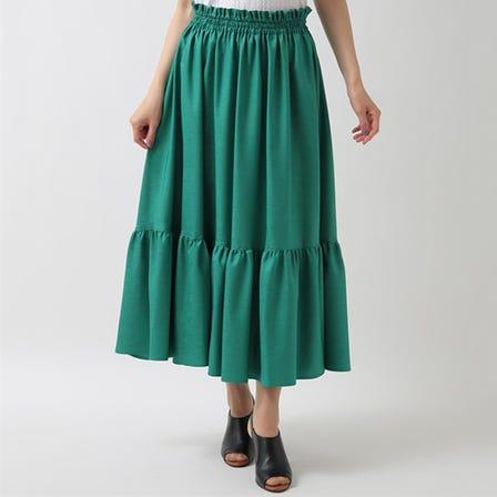 【手洗い可】ティアードスカート