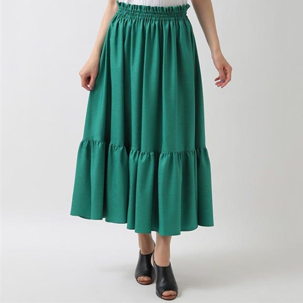 [Hand washable] Tiered skirt