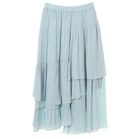 [Hand washable] Random tiered skirt